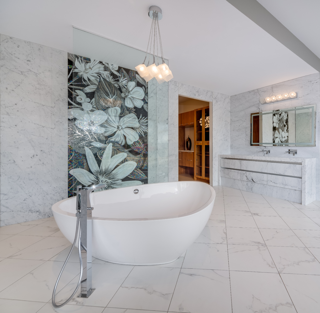 Gallery: Custom Bathroom, Marble Walls, Marble Vanity, Marble Floor tiles