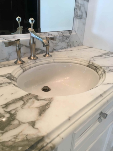Bath Room Sink Edge Work